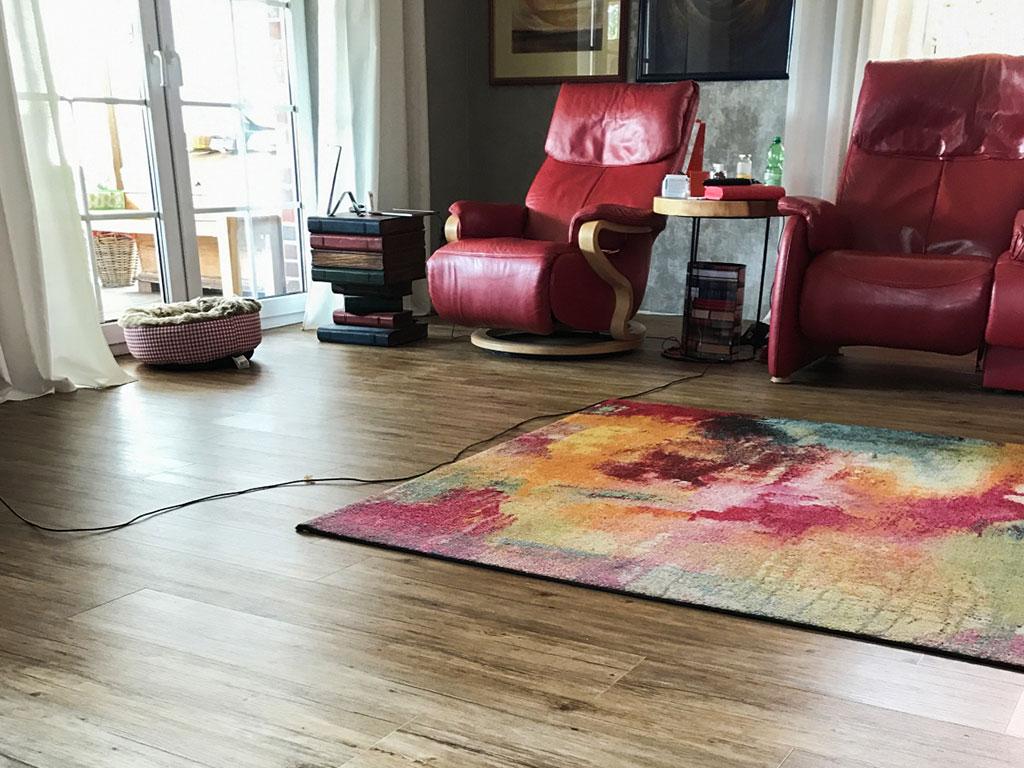 Farbwelt Feith | Designbelag im Wohnzimmer