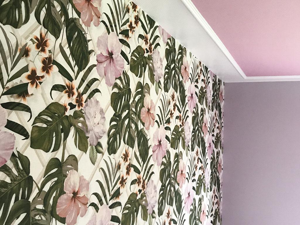 Farbwelt Feith | Motivtapete kombiniert mit einfarbigen Wänden