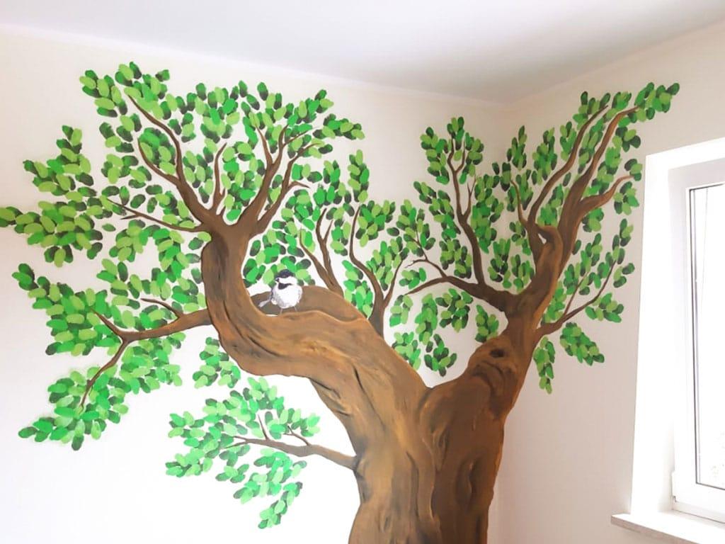 Farbwelt Feith | Wandbemalung mit Baummotiv
