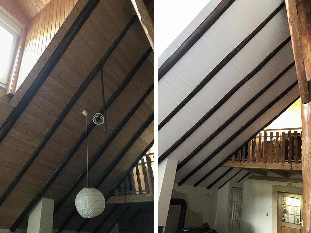 Farbwelt Feith | Dachschräge vorher - nachher