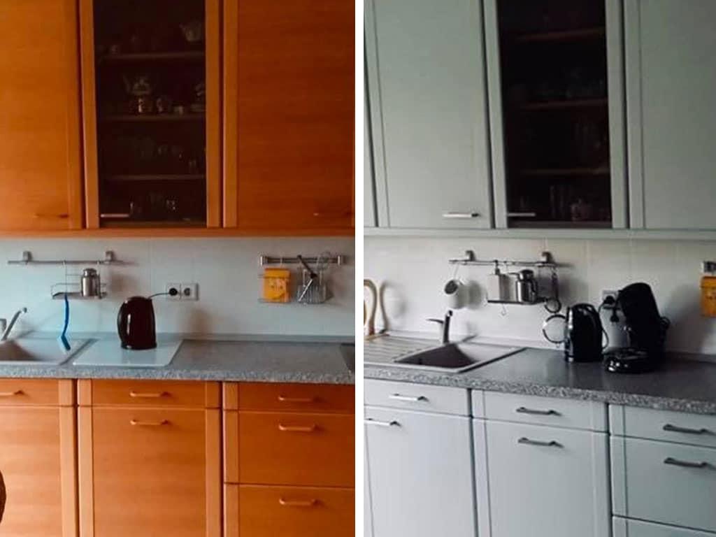 Farbwelt Feith | Küche vorher - nachher