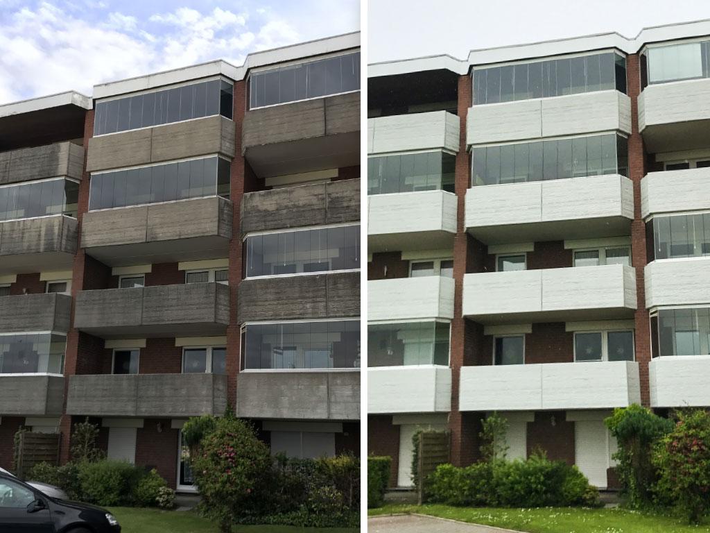 Farbwelt Feith | Balkone vorher - nachher