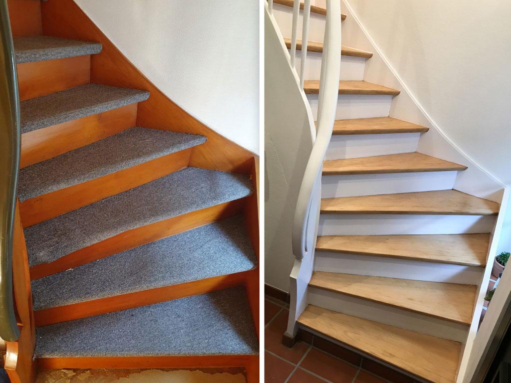 Farbwelt Feith | Treppe vorher - nachher